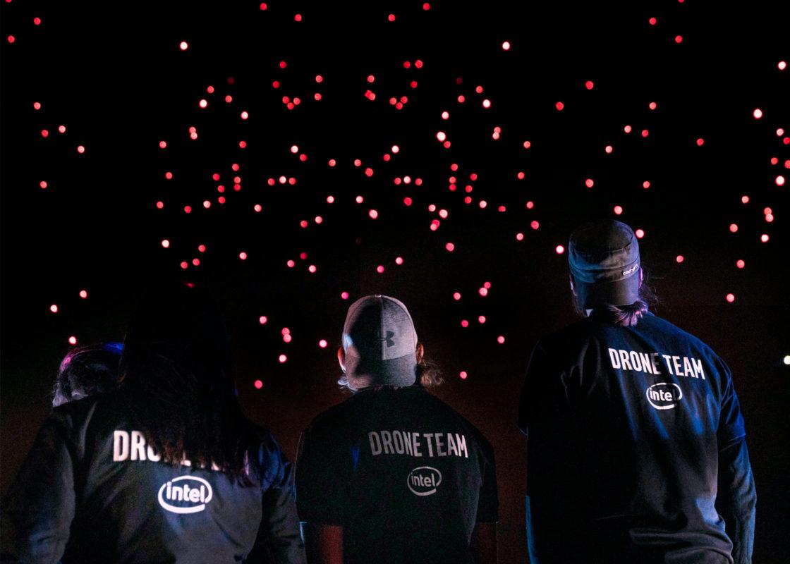 インテル社50周年記念ドローンショー4
