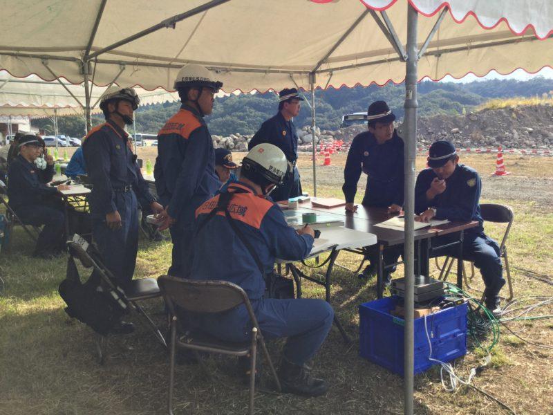 災害救助連携訓練指揮本部・各関係機関の連携
